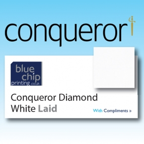 Conqueror Diamond White Laid Compliment Slips