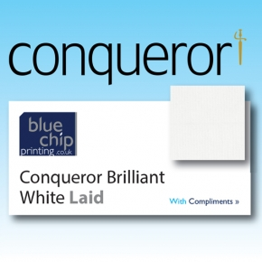 Conqueror Brilliant White Laid Compliment Slips