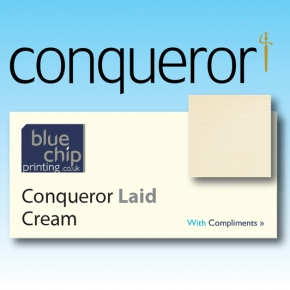 Conqueror Cream Laid Compliment Slips