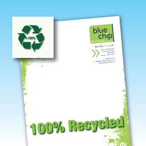 100% Recycled Paper Letterheads 100/120gsm