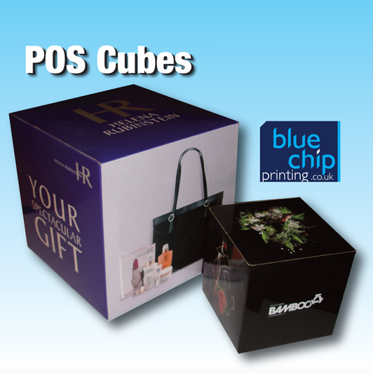 Promotional Marketing POS Cubes - 3D Visual Display