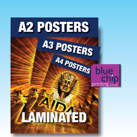 Posters with Lamination - A4, A3, A2
