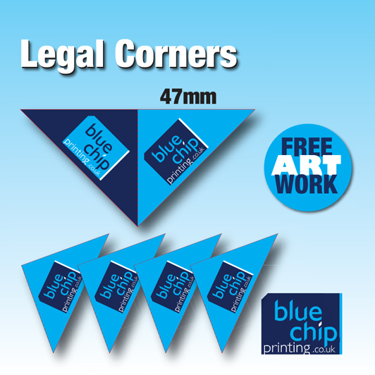Solicitors Legal Corners Printing - Fully Personalised with your own logo