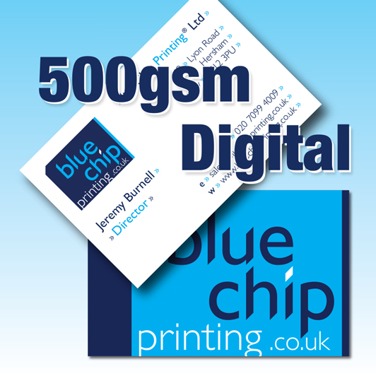 Full Colour Business Cards | 500gsm Silk