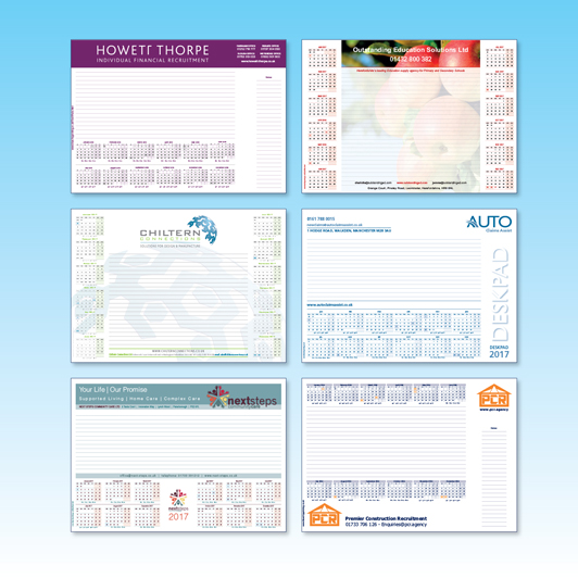 Quality A3, A2 Desk Pads with 50 sheets/pad - FREE Artwork