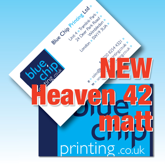 Blue chip printing business cards 400gsm heaven 42 matt business cards 400gsm heaven42 premium matt reheart Gallery