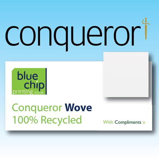 Conqueror 100% Recycled Wove Compliment Slips