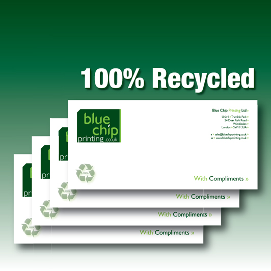 100% Recycled Paper Compliment Slips
