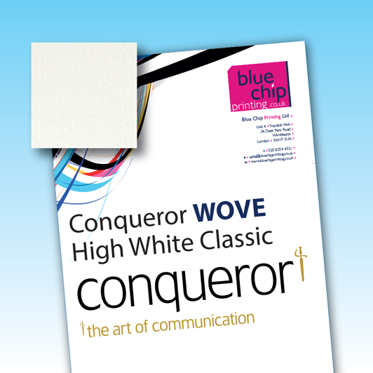 Conqueror High White Wove Classic Original Watermarked Letterheads - email us for Samples