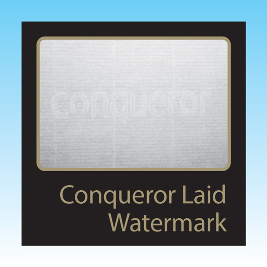 Conqueror Diamond White Laid WM